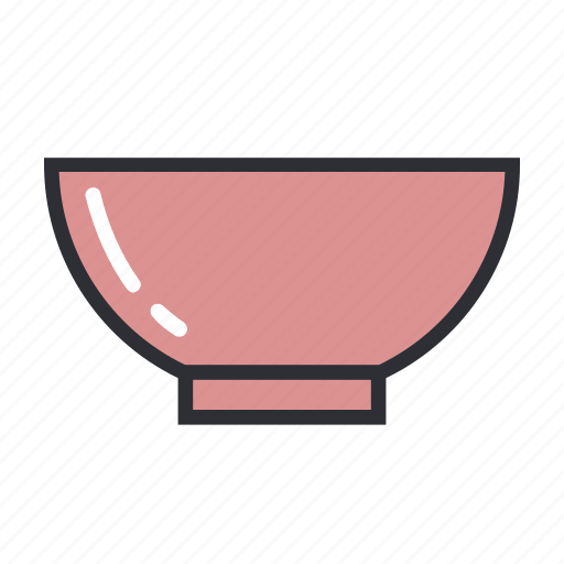 bowl, filled, kitchen, modern, set, soup icon