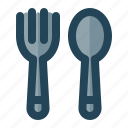 cook, eat, fork, spoon