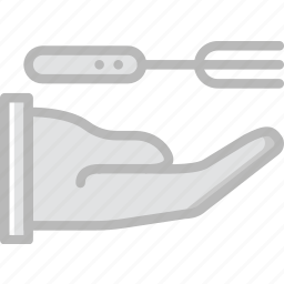 cooking, food, fork, give, kitchen icon