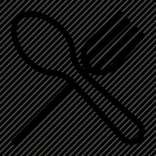 fork, hotel, kitchen, spoon, utensil icon