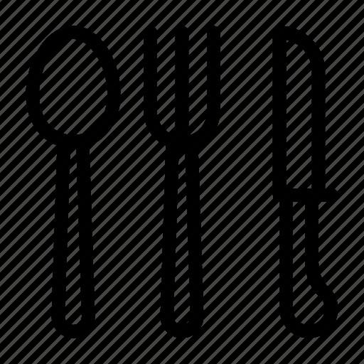 fork, knife, restaurant, spoon, utensils icon