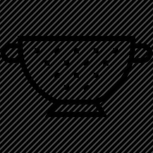 colander, food drainer, food strainer, kitchen sieve, strainer icon