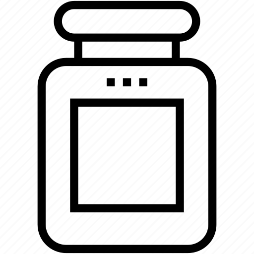 bottle, food bottle, food container, jam jar, jar icon