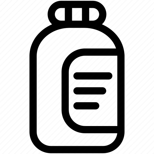 bottle, container, jam icon