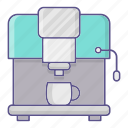 coffee, machine, maker icon