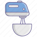 kitchen, kitchenware, mixer, utensil, whipping icon