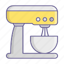 kitchen, mixer, standkitchenware, tool icon