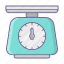 balance, kitchen, tool, weight icon