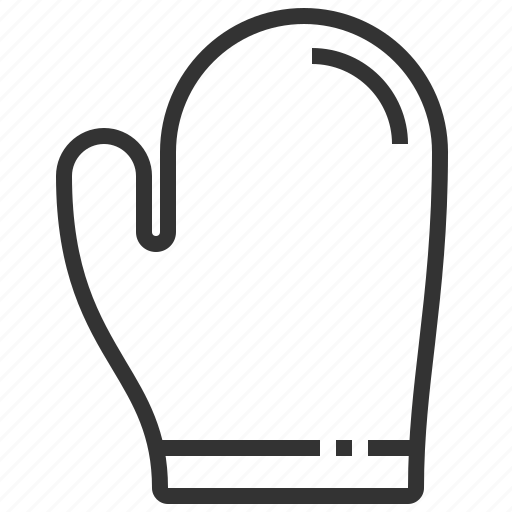 equipment, kitchen, mitt, oven, tool icon