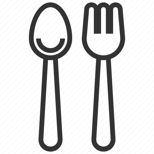 equipment, fork, kitchen, spoon, tool icon