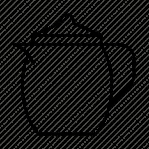 kettle, kitchen, tea, teakettle, teapot icon