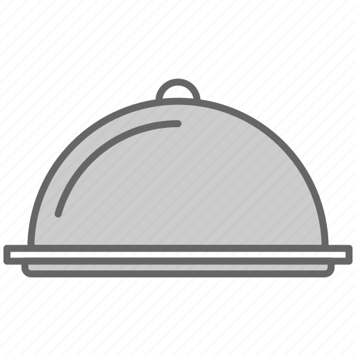 deliver, fill, food, kitchen, salver, tray, waiter icon