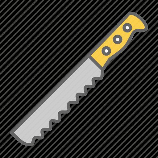 blade, bread, chop, cut, kitchen, knife, sharp icon
