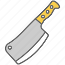 axe, blade, chop, cut, kitchen, meat, sharp icon