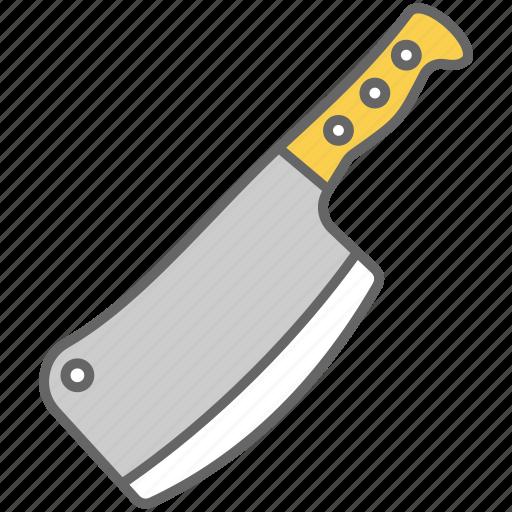 axe, blade, chop, cut, kitchen, meat, sharp icon