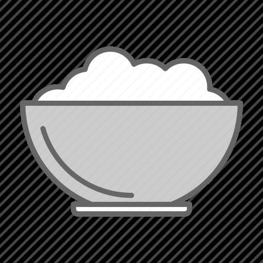 bowl, eat, fill, food, kitchen, meal, porridge icon