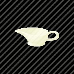 cartoon, empty, nobody, restaurant, sauce, sauceboat, white icon