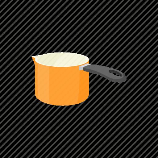 cartoon, equipment, handle, ladle, object, pan, tool icon