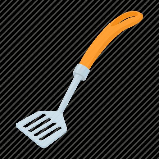 cartoon, equipment, food, metal, spatula, utensil icon