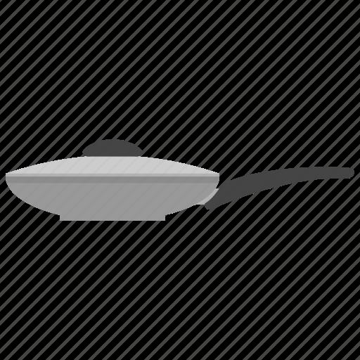 cap, frying, handle, kitchenware, pan icon