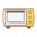 cooking, household, kitchen, kitchenware, microwave, oven, stove icon