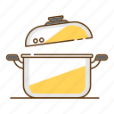boiling, cook, cooking, household, kitchen, kitchenware, pot icon