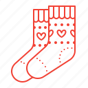 clothes, knitting, socks icon