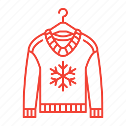 clothes, knitting, sweater, winter icon