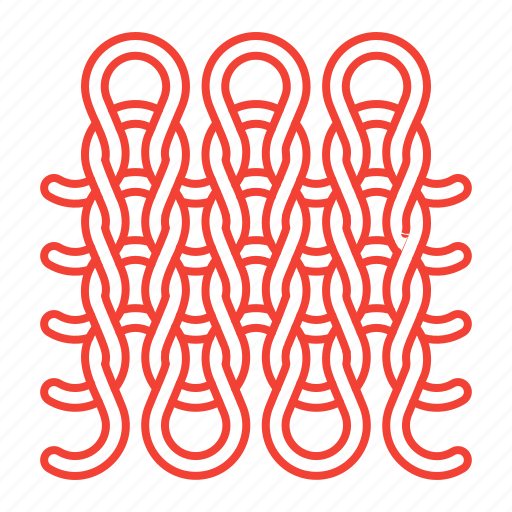 knitting, pattern, wool icon