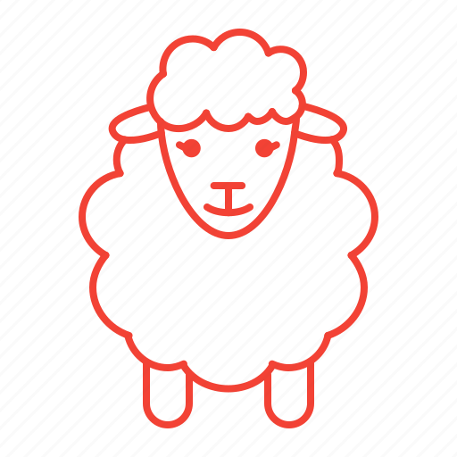 knitting, sheep, wool, yarn icon