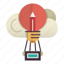 creative, idea, knowledge, learning, sky, zeppellin icon