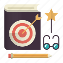 book, education, favorite, knowledge, lessons icon