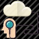 data, idea, imagination, knowledge, search icon