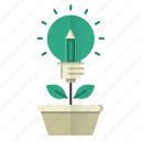 education, growth, idea, knowledge, plant icon