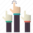 class, group, hands, knowledge icon