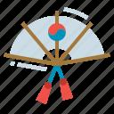 culture, fan, hand, korea, korean