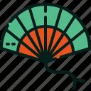 fan, folding, korea, south icon