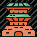 gyeongbokgung, korea, palace, south icon