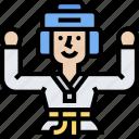 taekwondo, martial, fight, sports, exercise