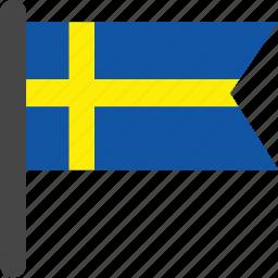 flag, sweden, sweden flag icon