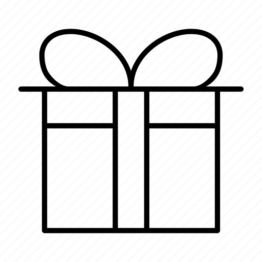 birthday, gift, holiday, present, wrap icon