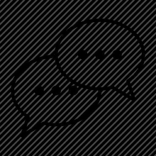 chat, forum, group, speak, talk icon