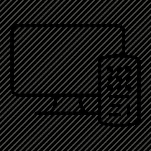 box, remote, screen, set, tv icon