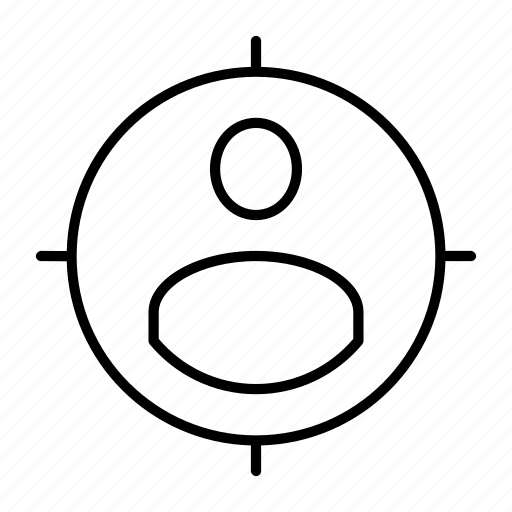 employee, employer, hiring, person, target icon