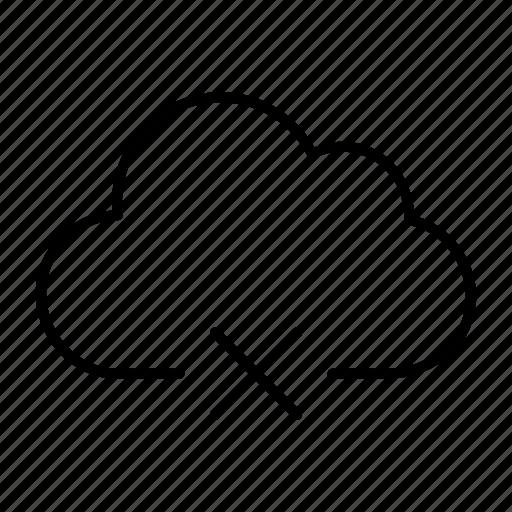 cloud, connection, disconnect, internet, server icon