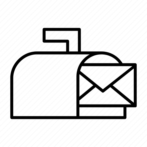 box, delivery, incoming, letter, mail icon