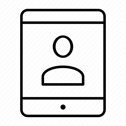 device, gadget, slate, tablet, user icon