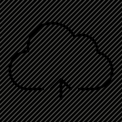 backup, cloud, server, sync, upload icon