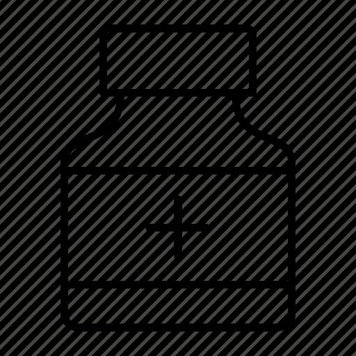 bottle, capsule, medicine, pill, treatment icon