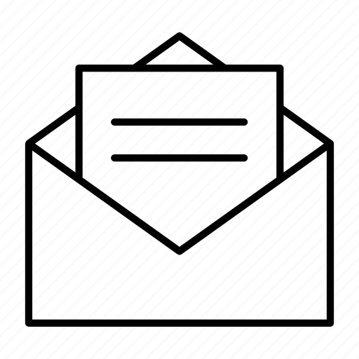 email, envelope, letter, mail, snail icon